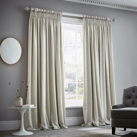 """Niki Pair of Lined Curtains 66"""" x 90"""", Linen"""