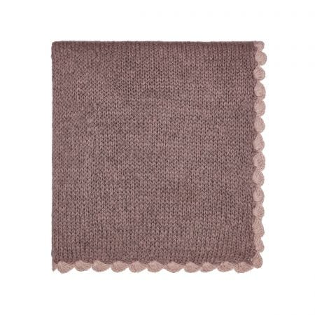 Scala Knitted Throw Heather