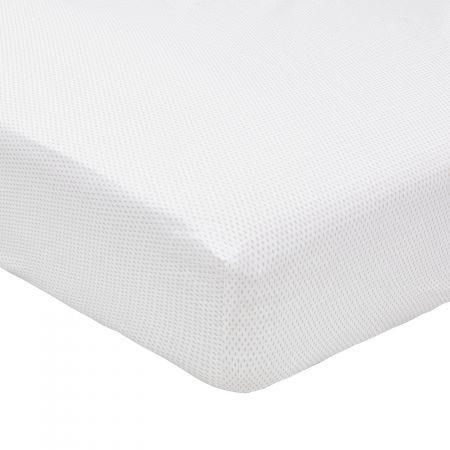 Tulip Cloud Grey Fitted Sheet