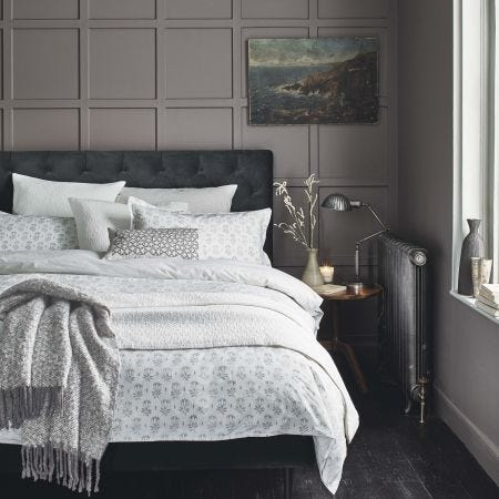 Tulip Bedding Set in Cloud Grey
