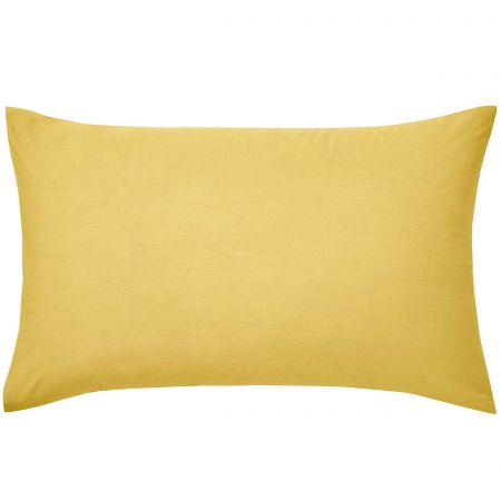 Luxury Plain Ochre Pillowcase