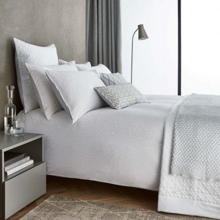 Aura Luxury White Bedding.