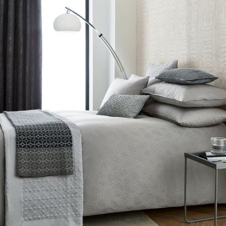 Bahia Gunmetal Grey Bedding