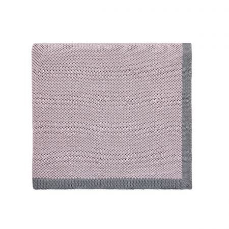 Caudaile Dusky Pink Knitted Throw.