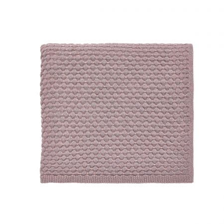 Real Dusky Pink Knitted Throw.