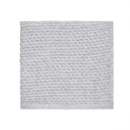 Real White Knitted Throw.