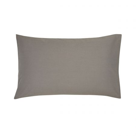 Gunmetal Plain Dye Housewife Pillowcase