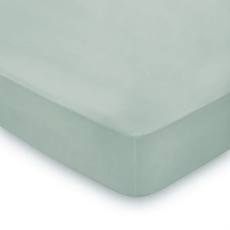 300 Thread Count Plain Dye Single Fitted Sheet, Seaglass