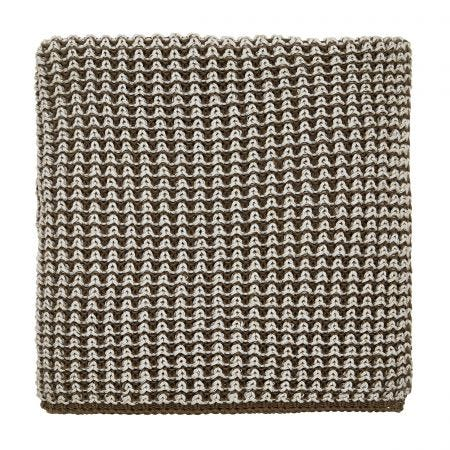 Trisara Truffle Knitted Throw