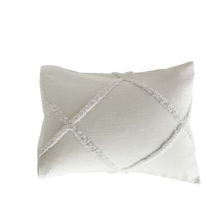 Chenille Lattice Housewife Pillowcase Grey