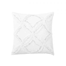 Metallic Chenille Cushion White