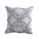 Metallic Chenille Cushion Grey