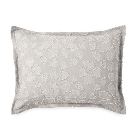 Clipped Floral Housewife Pillowcase Natural