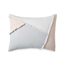 Colourblock Fringe Housewife Pillowcase Multi
