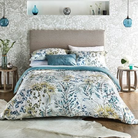 Postelia Tropical Bedding in Blue