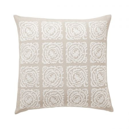 Pure Bachelors Button Sea Pink Cushion Front