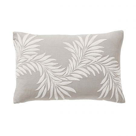 Pure Honeysuckle & Tulip Cushion Light Grey Front
