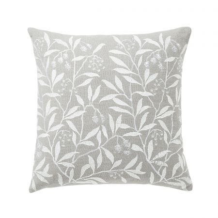Pure Pimpernel Light Grey Cushion Front