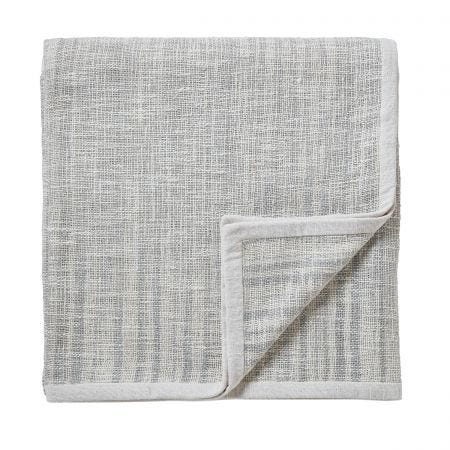 Pure Pimpernel Light Grey Knitted Throw