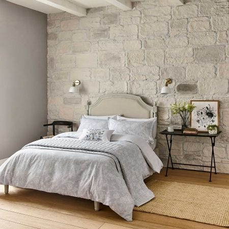 Tattershall Silver Floral Bedding