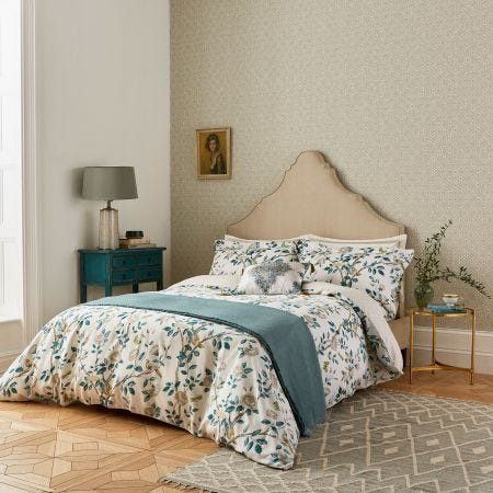 Andhara Teal & Cream Floral Bedding
