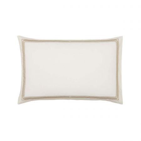 Andhara Pair of Housewife Pillowcases, Teal & Cream