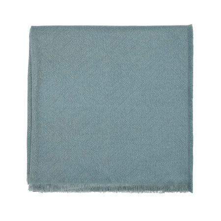 Andhara Woven Throw, Teal & Cream