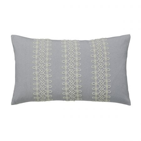 Chiswick Glove Silver Cushion Front