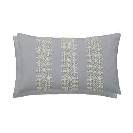 Chiswick Glove Silver Cushion Front & Reverse
