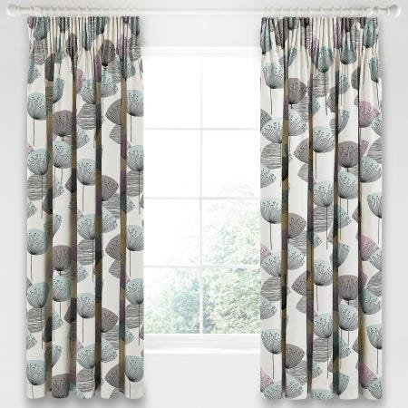 Dandelion Clocks Lined Curtains