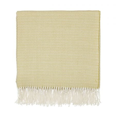 Coraline Marine Woven Throw, Chartreuse