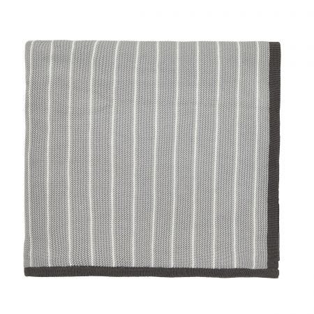 Willow Tree Grey Knitted Throw