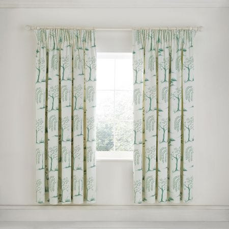 Willow Tree Aqua Curtains