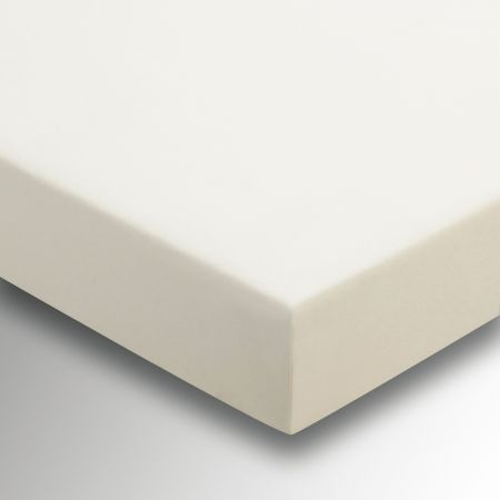 220 Thread Count Plain Dye Ivory Fitted Sheet