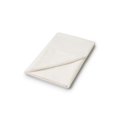 220 Thread Count Plain Dye Ivory Flat Sheet