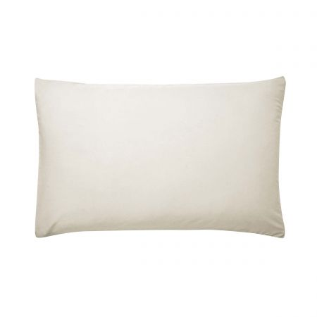 220 Thread Count Plain Dye Ivory Housewife Pillowcase