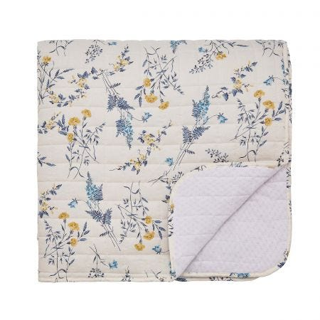 Alnwick Gardens Quilted Throw, Navy