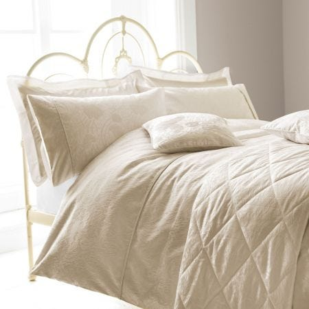 Ashbee Ivory Double Duvet Cover