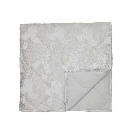 Ashbee Platinum Double Quilted Throw