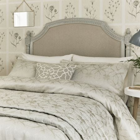 Sycamore Double Duvet Cover, Stone