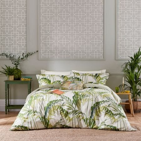 Palm House Green Tropical Bedding
