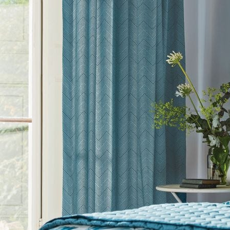 Palm House Eucalyptus Lined Curtains