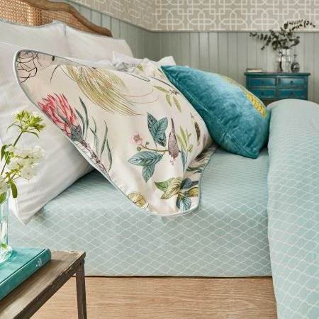 Paradesia Fitted Sheet Orchid & Grey