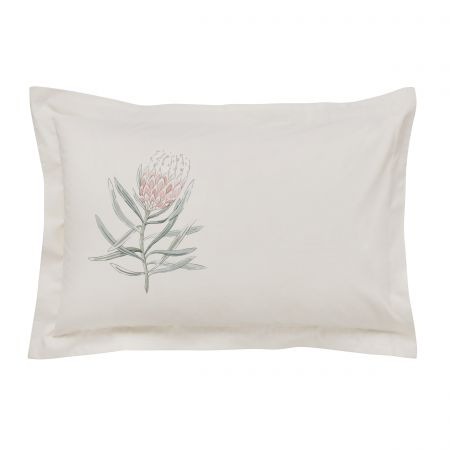 Protea Flower Sea Pink Oxford Pillowcase