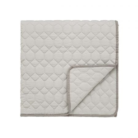 Siam Diamond Quilted Throw, Sumac & Grey