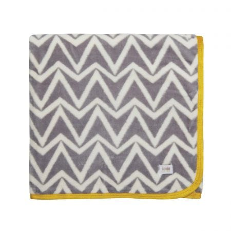 Dhurri Fleece Throw Grey