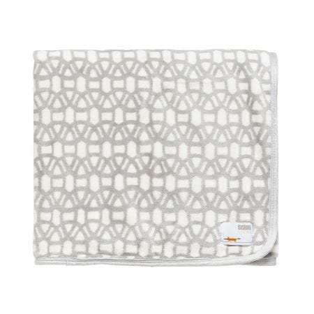 Lace Fleece Throw Steel