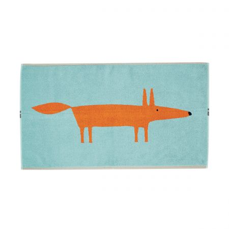 Mr Fox Bath Mats - Aqua