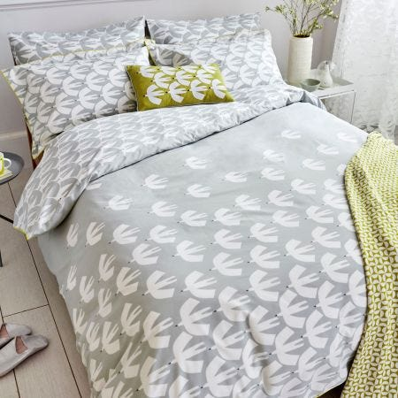 Pajaro Grey Pattern Bedding