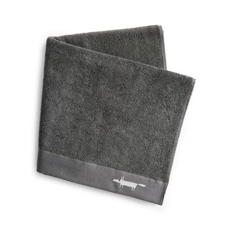Mr Fox Embroidered Towels Graphite